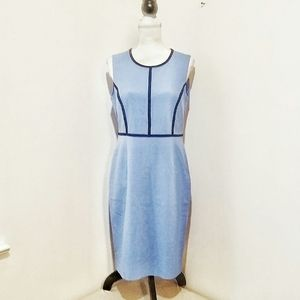 Evan Picone Black Label Pastel Blue Career Dress